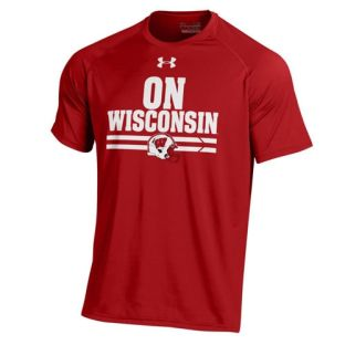 Wisconsin Badgers Under Armour Football On Wisconsin Tech T-Shirt