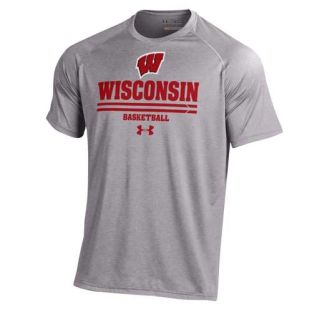 Wisconsin Badgers Under Armour Basketball Practice Tech T-Shirt
