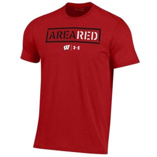 Wisconsin Badgers Under Armour Football AREA RED Cotton T-Shirt
