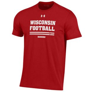 Wisconsin Badgers Under Armour Red Football Sideline Practice T-Shirt