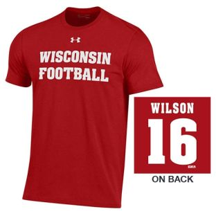 Wisconsin Badgers Under Armour Football Player Cotton T-Shirt