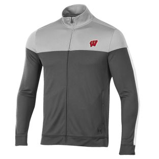 Wisconsin Badgers Under Armour Graphite & Black W Track Jacket