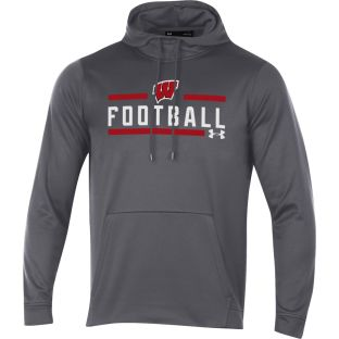 Wisconsin Badgers Under Armour Carbon Football Box Hooded Sweatshirt