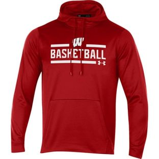 Wisconsin Badgers Under Armour Basketball Red Box Hooded Sweatshirt