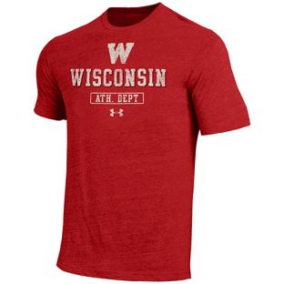 Wisconsin Badgers Under Armour Retro W Athletic Department Triblend T-Shirt