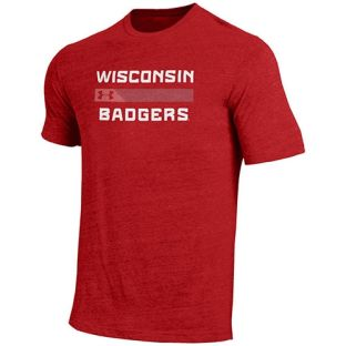 Wisconsin Badgers Under Armour Red Streak Triblend T-Shirt