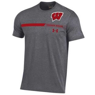Wisconsin Badgers Under Armour Carbon W Stripe Taps T-Shirt