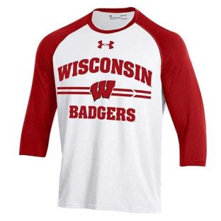 Wisconsin Badgers Under Armour Forward Base Raglan T-Shirt