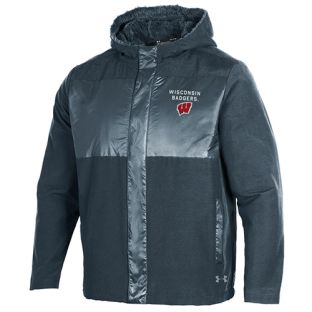 Wisconsin Badgers Under Armour Stealth Black Mammoth Puffer Jacket