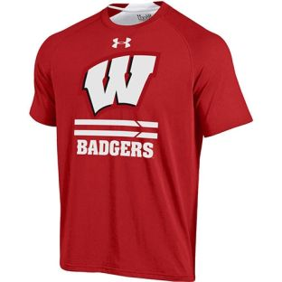 Wisconsin Badgers Under Armour Charged W Forward T-Shirt