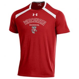 Wisconsin Badgers Under Armour Arc Bucky Threadborne T-Shirt