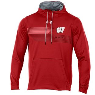 Wisconsin Badgers Under Armour W Stripes Shore Hooded Sweatshirt
