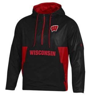 Wisconsin Badgers Under Armour Black Anorak Pullover Jacket