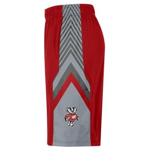 Wisconsin Badgers Under Armour Red Space The Floor Shorts