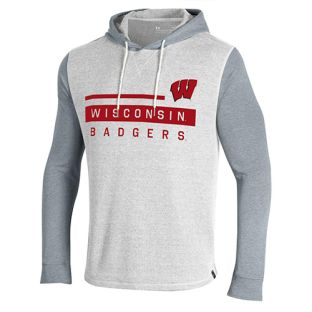 Wisconsin Badgers Under Armour White & Steel Waffle Lightweight Hood