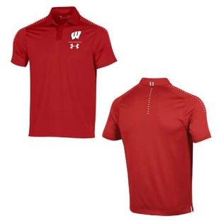 Wisconsin Badgers Under Armour 2018 Sideline Pinnacle Polo