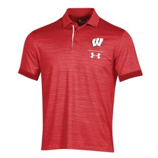 Wisconsin Badgers Under Armour Red 2018 Sideline Playoff Polo