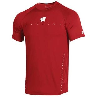 Wisconsin Badgers Under Armour 2018 Sideline Training Short Sleeve T-Shirt