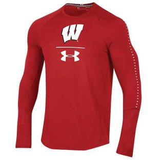 Wisconsin Badgers Under Armour 2018 Sideline Training Long Sleeve T-Shirt