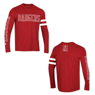 Wisconsin Badgers Under Armour Red 150 Year Commemorative Long Sleeve T-Shirt