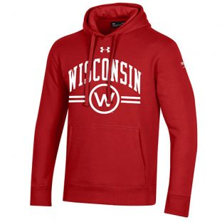 Wisconsin Badgers Under Armour Red 150 Year Commemorative Hood