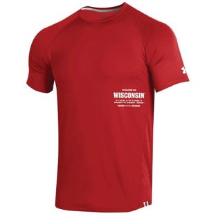 Wisconsin Badgers Under Armour 2019 Sideline MK1 Raid Short Sleeve T-Shirt
