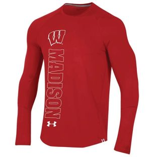 Wisconsin Badgers Under Armour 2019 Sideline MK1 Raid Long Sleeve T-Shirt
