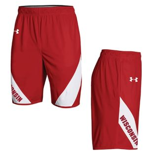 Wisconsin Badgers Under Armour Basketball Red 2018-19 Practice Shorts