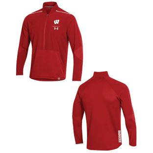 Wisconsin Badgers Under Armour 2019 Sideline Evo Half Zip Jacket