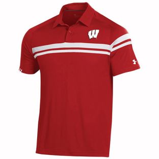 Wisconsin Badgers Under Armour Sideline 2019 Tour Drive Polo