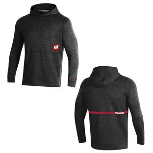 Wisconsin Badgers Under Armour Black 2019 Sideline Fleece Hooded Sweatshirt