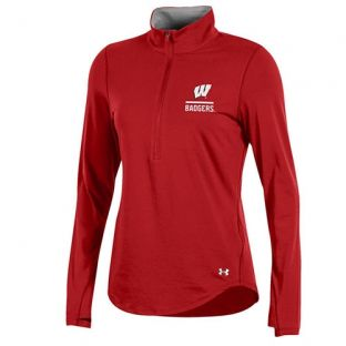 Wisconsin Badgers Under Armour Women's W Cotton 1/4 Zip