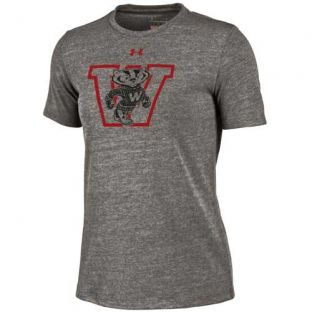 Wisconsin Badgers Under Armour Women's Block Bucky Triblend T-Shirt