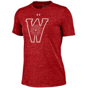 Wisconsin Badgers Under Armour Women's Retro Seal Triblend T-Shirt
