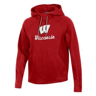 Wisconsin Badgers Under Armour Women's Red W Ridge Hooded Sweatshirt