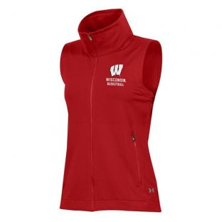 Wisconsin Badgers Under Armour Women's Red Basketball Nodus Vest