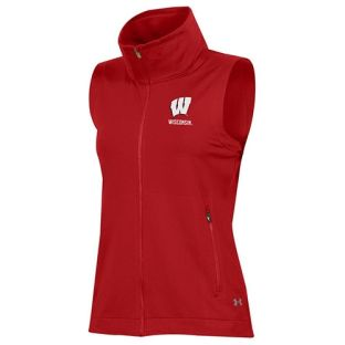 Wisconsin Badgers Under Armour Women's Red W Nodus Vest