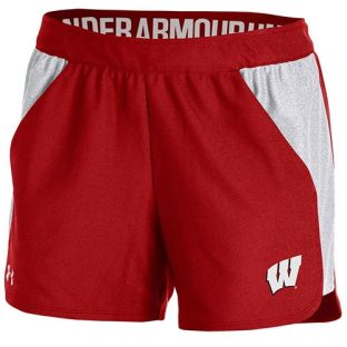 Wisconsin Badgers Under Armour Women's Red W Play Up Short
