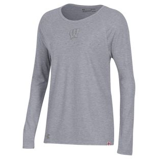Wisconsin Badgers Under Armour 2018 Women's Heather Sideline Championship Long Sleeve