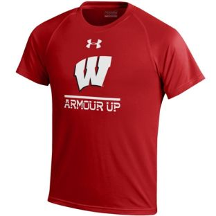 Wisconsin Badgers Under Armour Youth Armour Up Tech T-Shirt