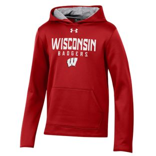 Wisconsin Badgers Under Armour Red Youth Stack W Hood