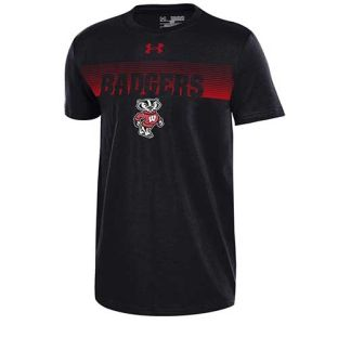 Wisconsin Badgers Under Armour Youth Black Bucky Taps T-Shirt