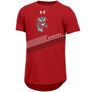 Wisconsin Badgers Under Armour Youth Red Bucky Freestyle T-Shirt