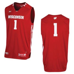 Wisconsin Badgers Under Armour Youth Basketball Jersey