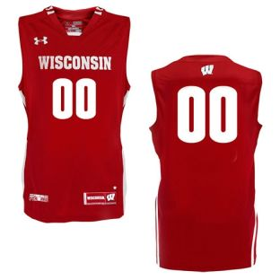 Wisconsin Badgers Under Armour Youth Custom Basketball Jersey