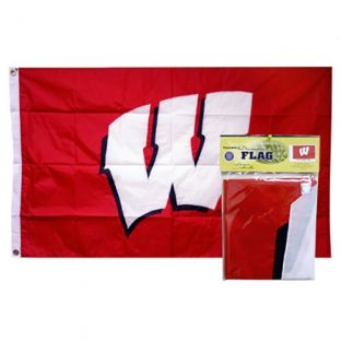 Wisconsin 3x5 Nylon Motion W Flag