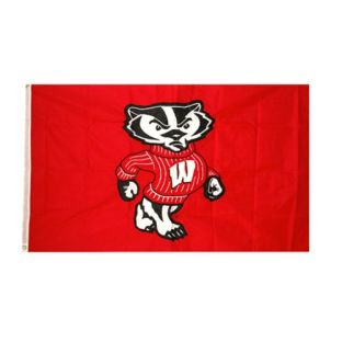 Wisconsin Badgers 3x5 NyloMax Bucky Flag