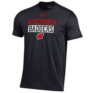 Wisconsin Badgers Under Armour Block Box W Charged T-Shirt