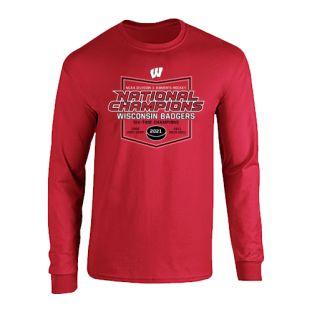 Wisconsin Badgers Women's Hockey National Champions Six-Times Long Sleeve T-Shirt