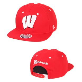 Wisconsin Badgers Zephyr Z11 32/5 Flat Snapback Adjustable Cap